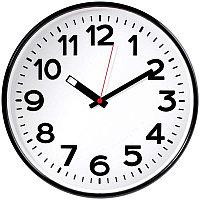 Часы настенные ход плавный, Troyka 78770783, круглые, 30*30*5,5, черная рамка