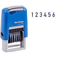 "Нумератор мини автомат Berlingo ""Printer 7836"",  пластик, блистер 82406"
