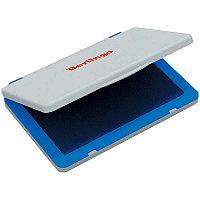 Штемпельная подушка Berlingo, 100*80мм, синяя, пластиковая 81002, фото 1