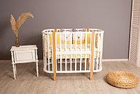 Кроватка детская Incanto Nuvola 3 в 1 белый-бук, фото 1
