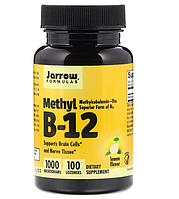 Jarrow Formulas, Метил B-12, со вкусом лимона, 1000 мкг, 100 пастилок