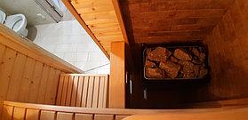 "Финская сауна в квартире. Размер = 1,2 х 0,9 х 2,1 м. Адрес: г. Алматы, ЖК ""Хан Тенгри"" 7"