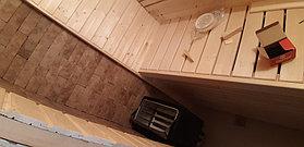 "Финская сауна в квартире. Размер = 1,2 х 0,9 х 2,1 м. Адрес: г. Алматы, ЖК ""Хан Тенгри"" 16"