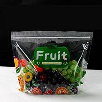 Пакет дой-пак прозрачный для хранения свежих фруктов 210x260 мм, zip-замок, фото 1