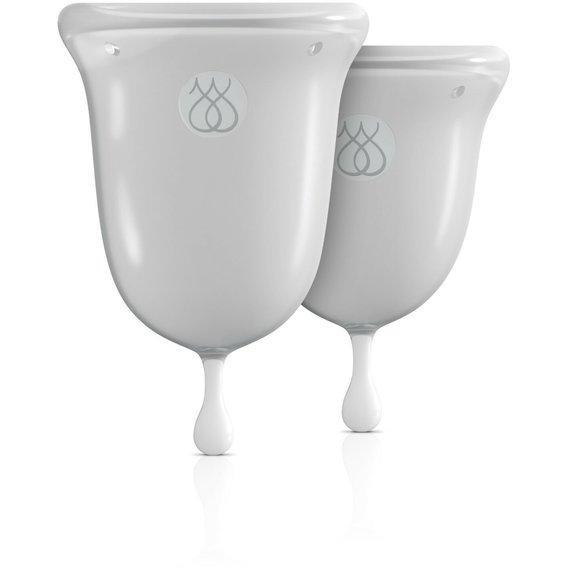 "Набор менструальных чаш ""JIMMYJANE Menstrual Cups"", 14 мл и 21 мл, цвет прозрачный"