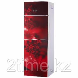Кулер для воды ALMACOM WD-SСО-11CE, Напольный, со шкафчиком, компрессорное охлаждение и нагрев, красный