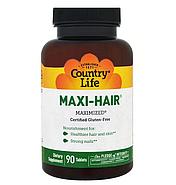 Country Life, Maxi Hair, 90 таблеток, фото 2