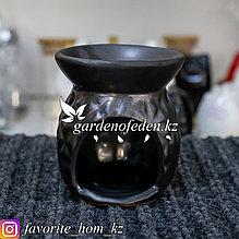 Аромалампа керамическая, с декором. Материал: Керамика. Цвет: Черный.
