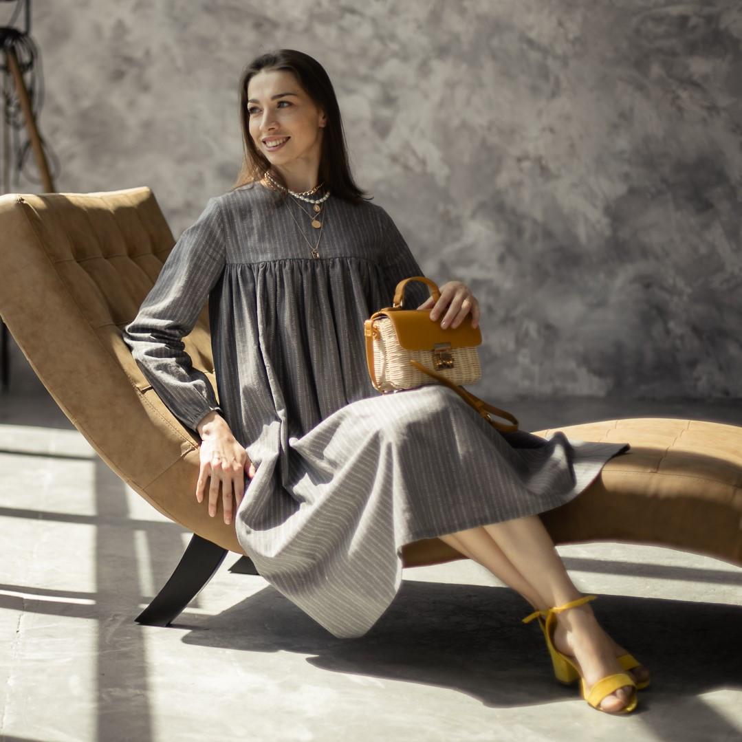 Льняное платье для женщин. - фото 1