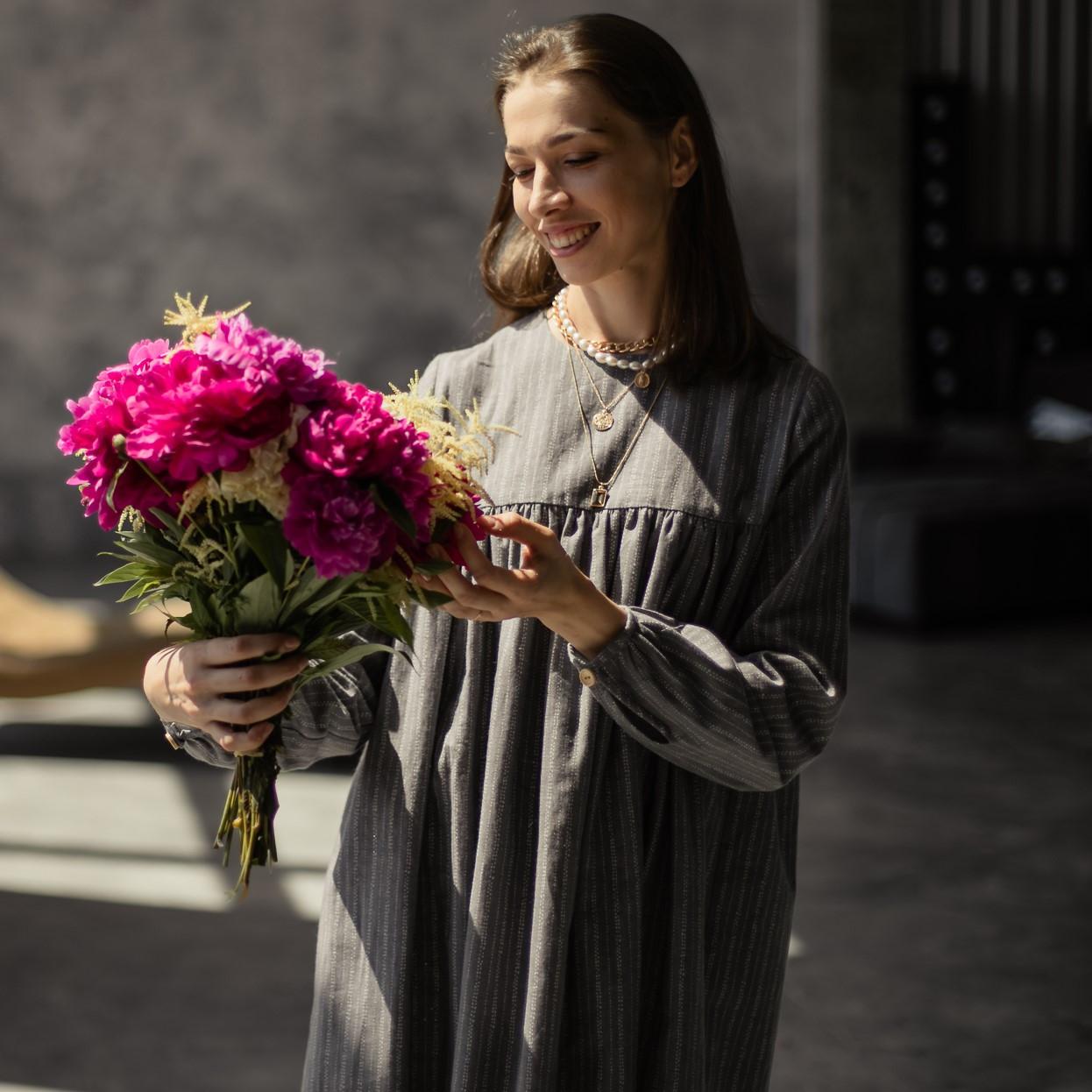 Льняное платье для женщин. - фото 3