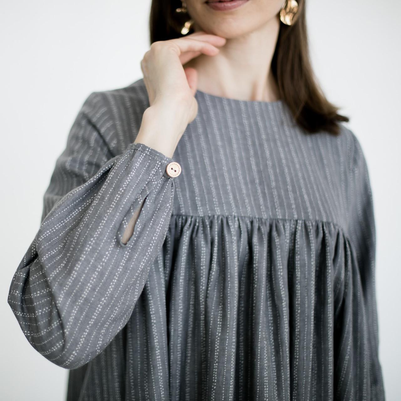 Льняное платье для женщин. - фото 6