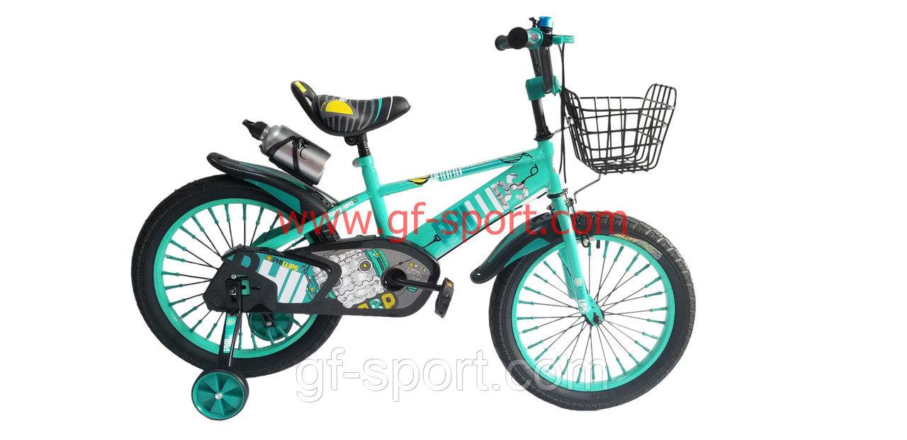 Велосипед Phillips бирюзовый оригинал детский с холостым ходом 18 размер