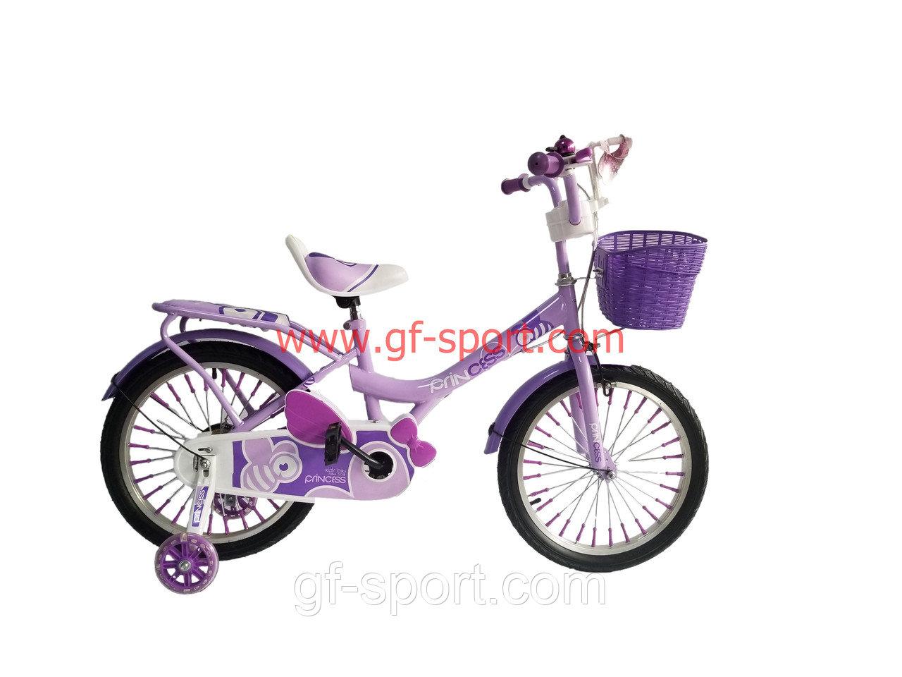 Велосипед Phillips Принцесса фиолетовый оригинал детский с холостым ходом 18 размер
