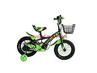 Велосипед Phillips зеленый оригинал детский с холостым ходом 14 размер