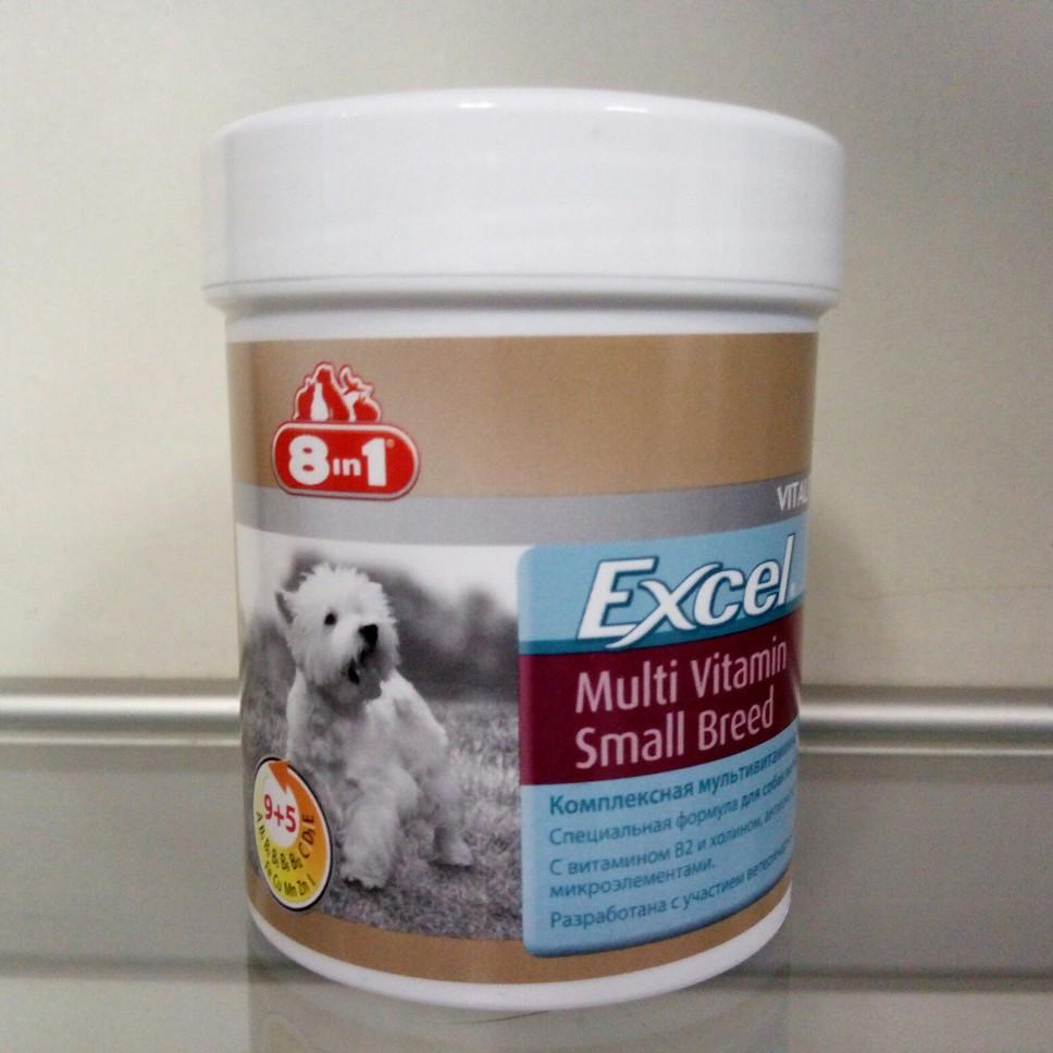 Мультивитамины Excel 8в1 для собак мелких пород