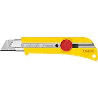 Нож с винтовым фиксатором SK-25, сегмент. лезвия 25 мм, усиленный корпус, STAYER (09173_z01)