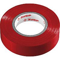 ЗУБР Электрик-20 Изолента ПВХ, не поддерживает горение, 20м (0,16x19мм), красная (1234-3_z02)