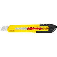 Нож из АБС пластика QUICK-18, сегмент. лезвия 18 мм, STAYER (0910_z01)