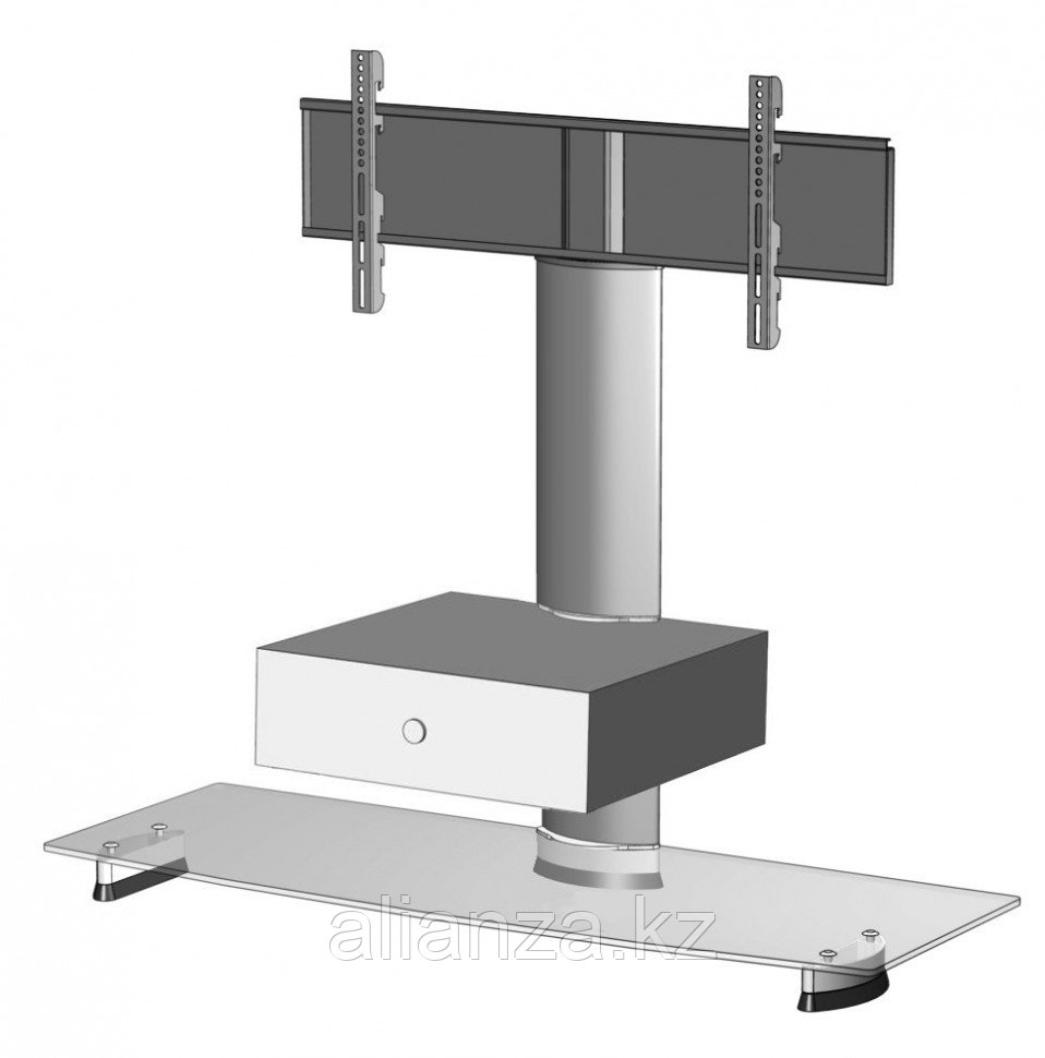 Тумба с ТВ стендом Ultimate HDC 1150B/W silveralu