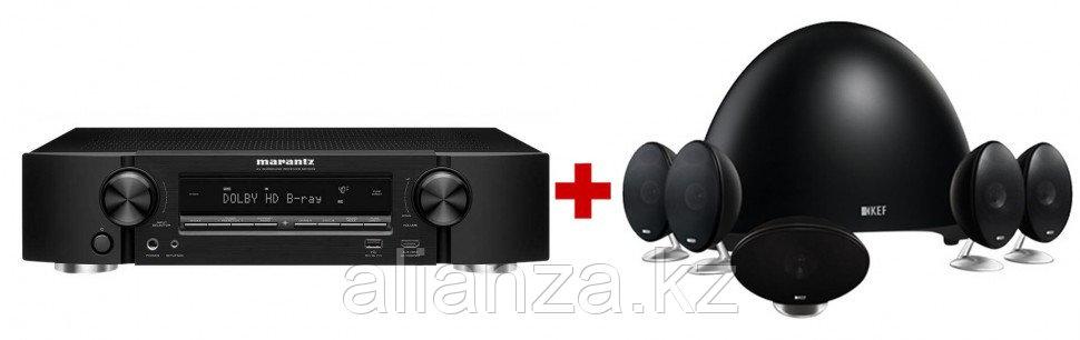 Комплект акустических систем KEF E305 Black + Marantz NR1509 Black