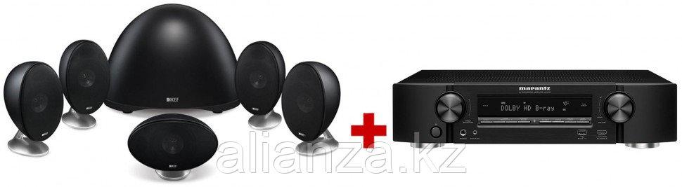 Комплект акустических систем KEF E305 Black + Marantz NR1510 Black
