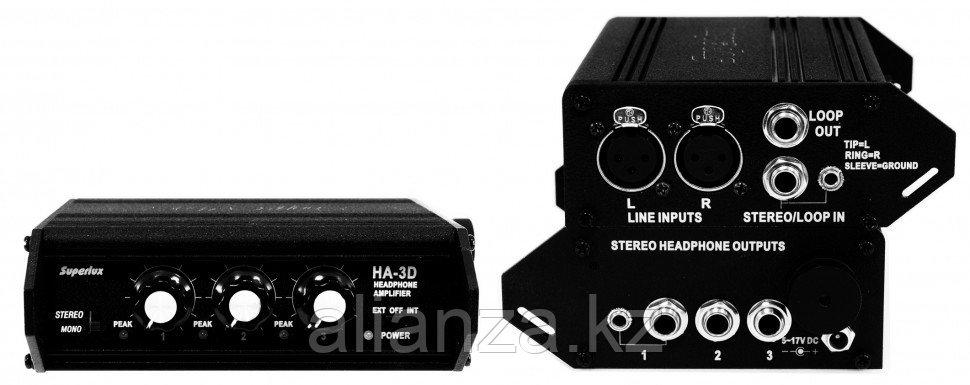 Усилитель для наушников транзисторный SUPERLUX HA3D
