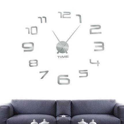 """Настенные  3D-Часы """"Арабские цифры """" диаметром 0,8-1,1м, фото 2"""
