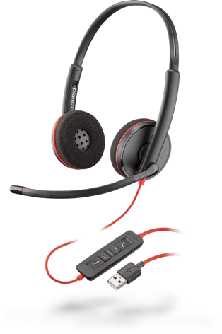 Plantronics 209745-101 Проводная гарнитура для систем UC BLACKWIRE C3220 USB-A