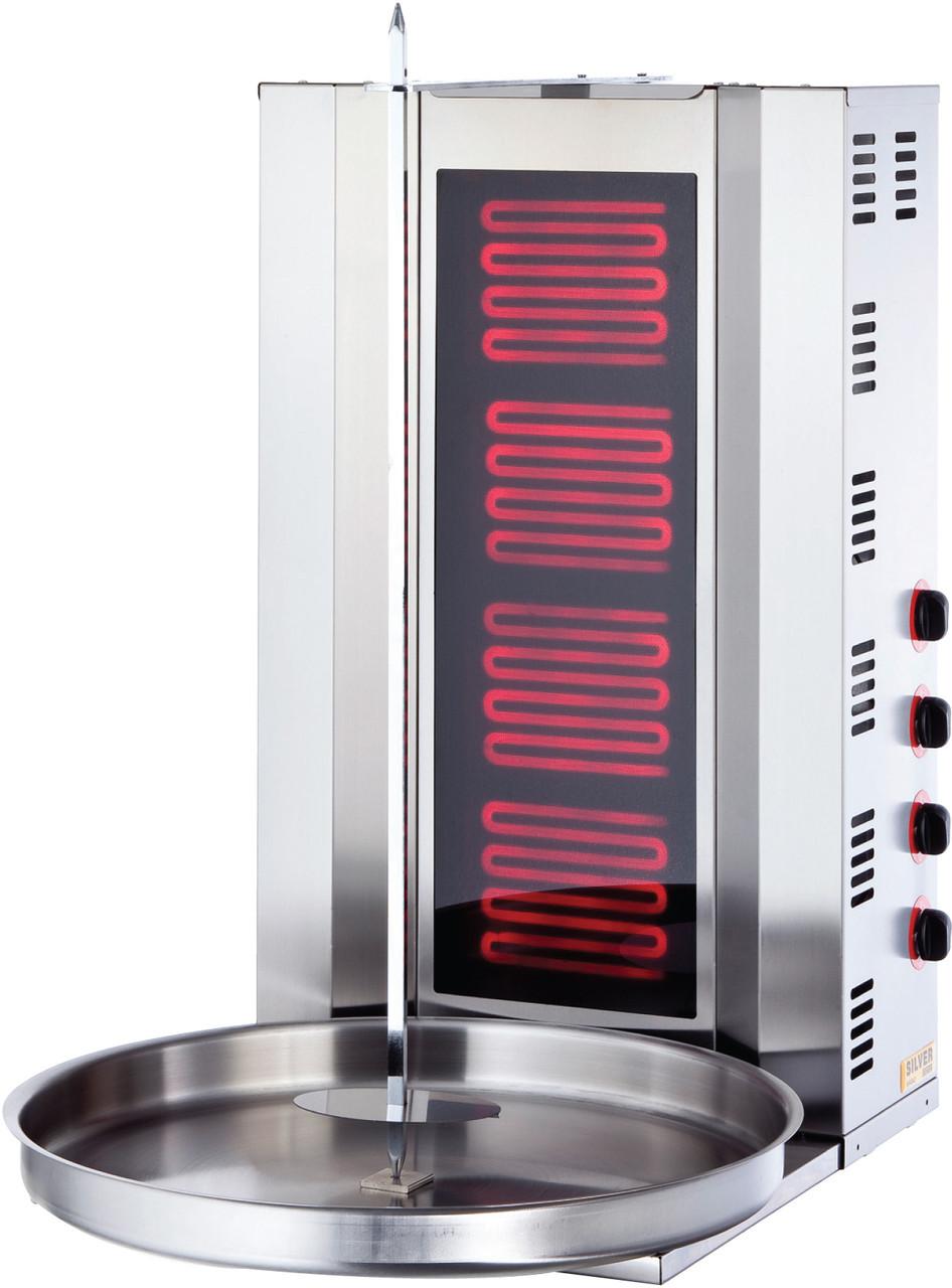 Аппарат донер кебаб 4 горелки, промышленный электрический. Турция