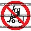 Запрещается движение средств напольного транспорта