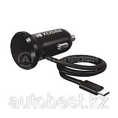 Автомобильное зарядное устройство KODAK для телефона / планшета, USB-C, Quick Charge 3.0. UC105