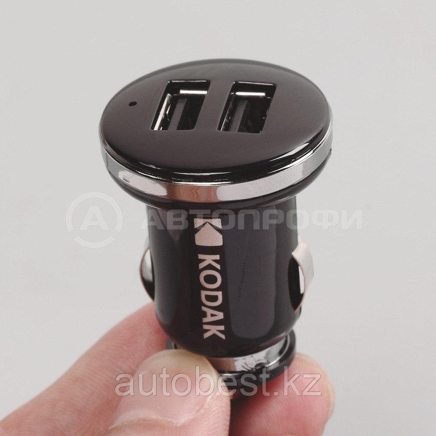 Автомобильное зарядное устройство KODAK для телефона/планшета, USBх2, Quick Charge 3.0. UC108