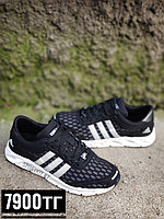 Кроссовки adidas climacool черные с белой подошвой, фото 1