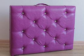 Кушетка массажная  чемодан со  стразами ширина 60 см