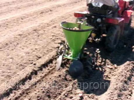 Каменская картофелесажалка для минитрактора Т 012 (40см), фото 2