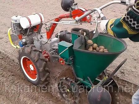 Каменская картофелесажалка для мотоблока Мотор Сич, фото 2