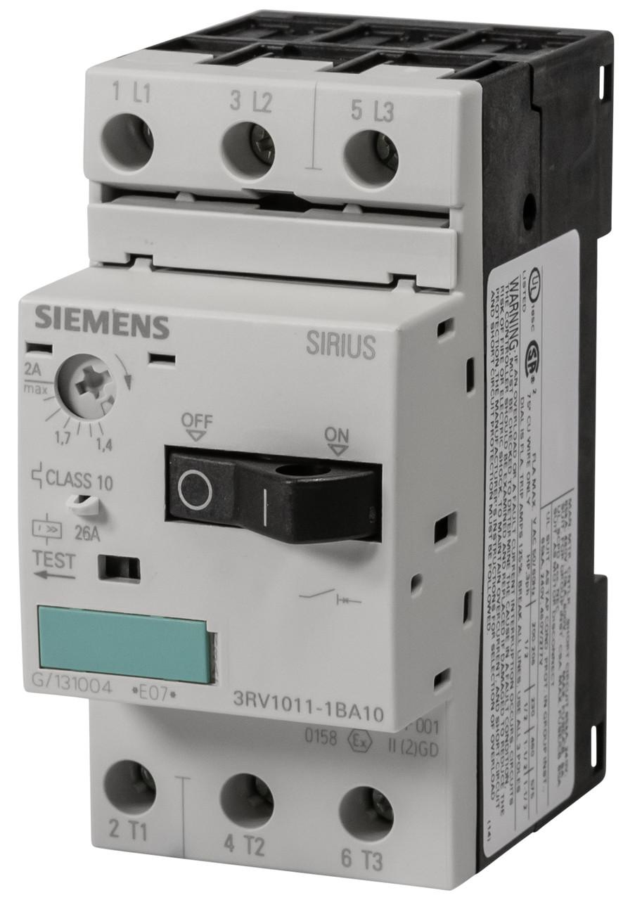 Автоматический выключатель защиты двигателя 3RV1011-1BA10 Siemens