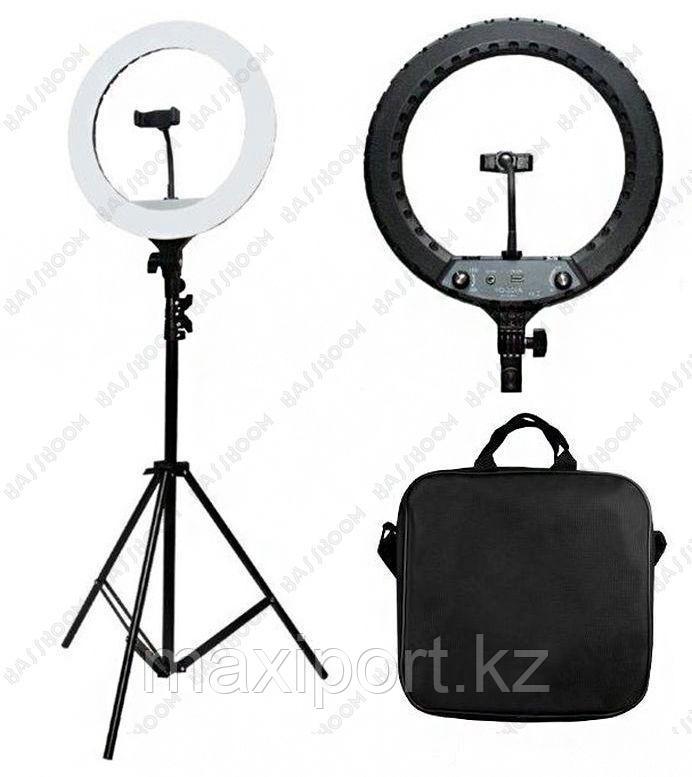 Профессиональная  кольцевая лампа 46 см для фотоаппарата и смартфона YQ-480B Штатив в комплекте