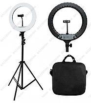Профессиональная лампа 46 см кольцевая для фотоаппарата и смартфона YQ-480B Штатив в комплекте, фото 2