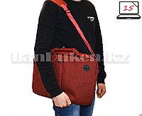 Сумка для ноутбука 15 дюймов Наплечная сумка 30 см х 41 см х 5 см Meijieluo (темно-красная)