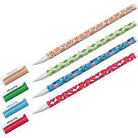 """Ручка шариковая Berlingo """"Funline. Flowers"""", синяя, 0,7мм, рисунок на корпусе, ассорти 07268"""
