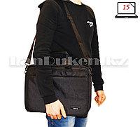 Сумка для ноутбука 15 дюймов Наплечная сумка 30 см х 40 см х 5 см Fopati bag (черная)
