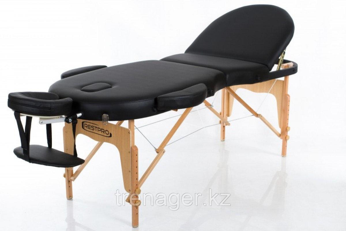 Складной массажный стол RESTPRO VIP OVAL 3 Black