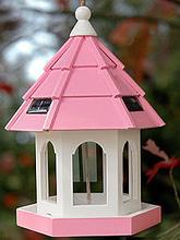 Кормушка для птиц 12998 дерево/солн.бат225*225*320