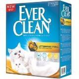 Ever Clean 10л,Litter Free Paws для идеально чистых лап наполнитель для кошачьего туалета
