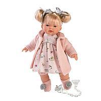 Кукла Llorens Ариана блондинка в розовом пальто и розовом платье
