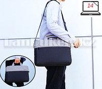 Сумка для ноутбука лэптопа 14 дюймов Наплечная сумка для макбука 26 см х 36 см х 6 см (черная) Т52