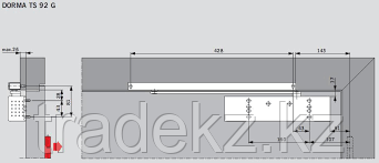 Пластина монтажная для доводчиков Dorma TS 92/93, фото 2