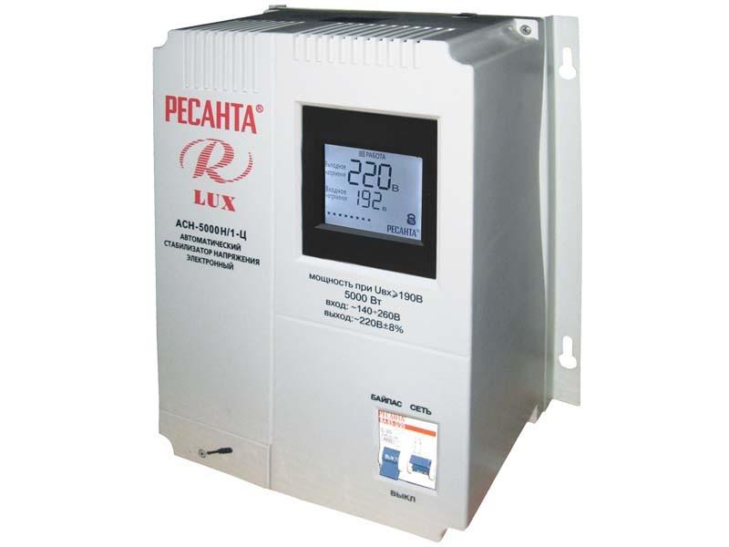 Стабилизатор напряжения серии LUX РЕСАНТА АСН-5000Н/1-Ц