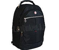 Городской рюкзак SWISSGEAR с дождевиком и USB портом и светоотражающей полосой черный (103)
